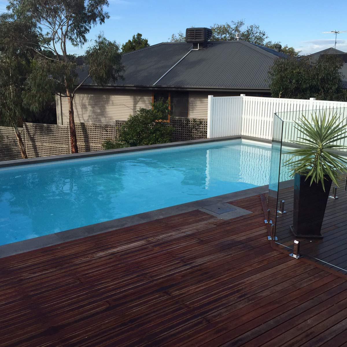 pools on sloping blocks