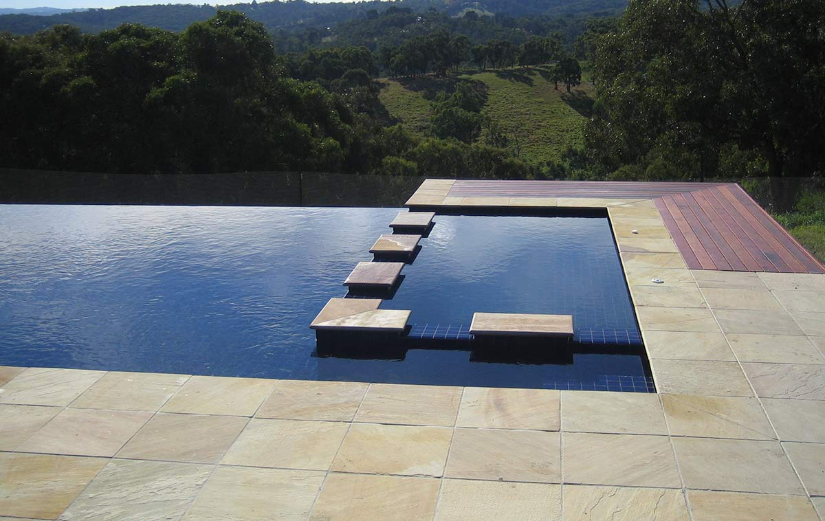 negative edge pool design