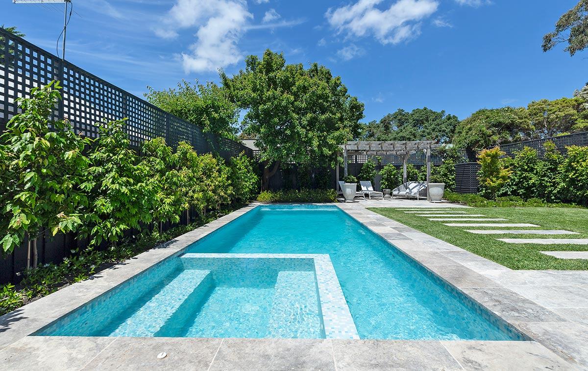 concrete lap pool