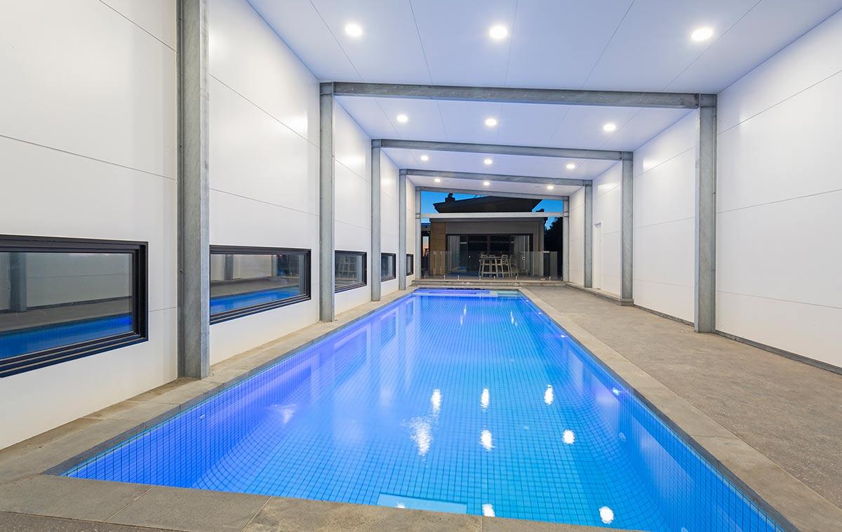 lap pool width