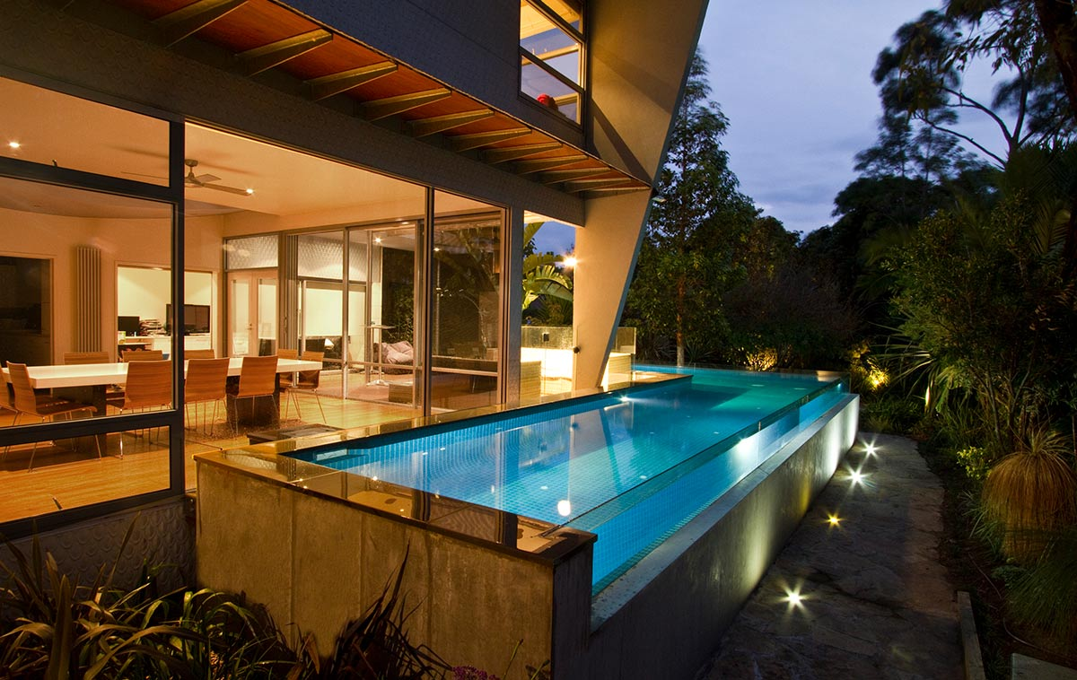 narrow lap pool