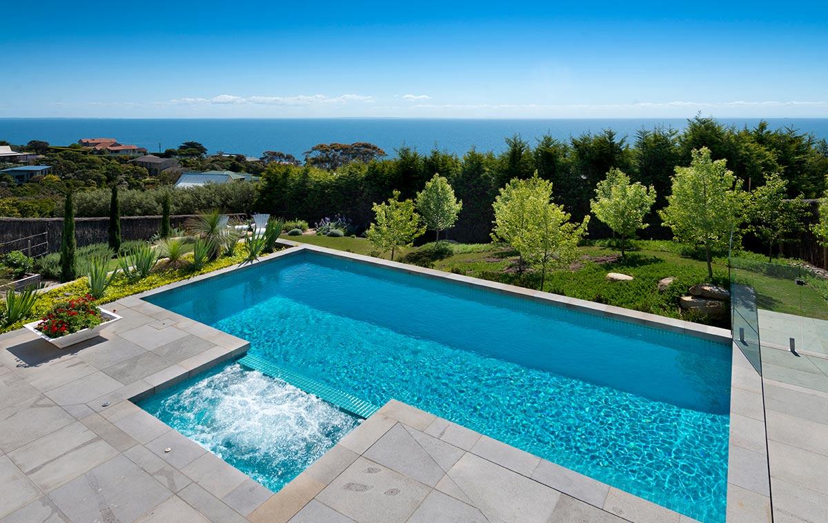 sloping block pool designs